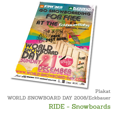 Plakat WORLD SNOWBOARD DAY 2008 - RIDE-Snowboards
