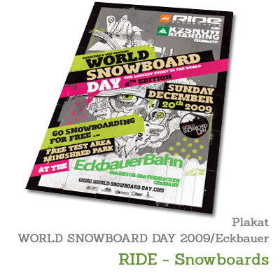 Plakat WORLD SNOWBOARD DAY 2009 - RIDE-Snowboards