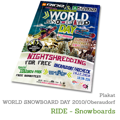 Plakat WORLD SNOWBOARD DAY 2010 - RIDE-Snowboards